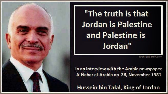 JORDAN IS PALESTINE - AND PALESTINE IS JORDAN