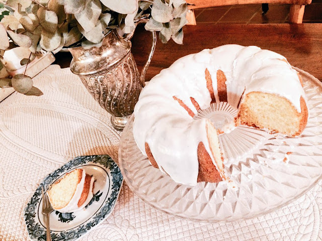 bundt cake glaseado vainilla