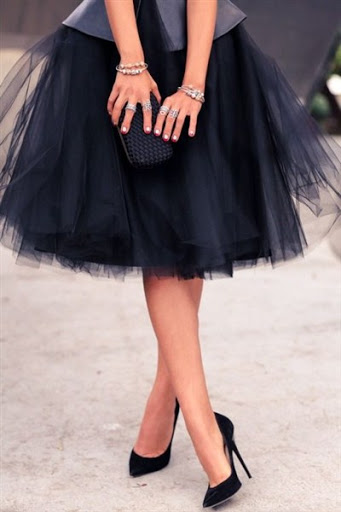 Latest Tulle Skirt in black