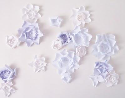 Juneberry Lane A Wonderful Wall Of Paper Flowers