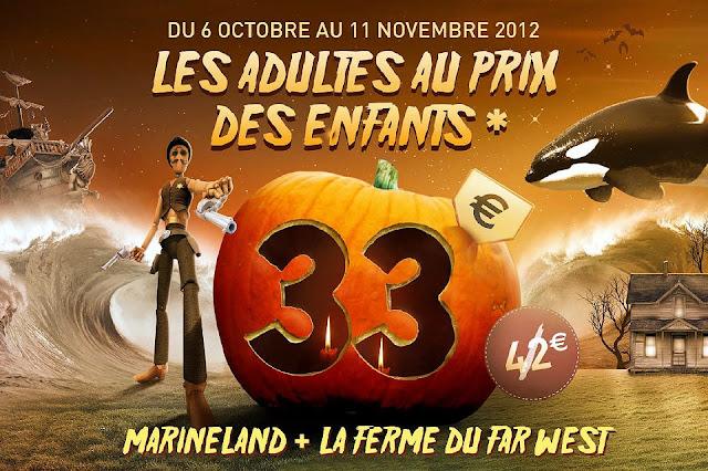Promotion Marineland spéciale Halloween