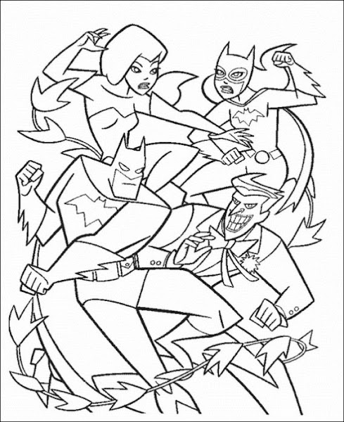 Batman And Joker Colouring Pages