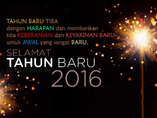 Salam Tahun Baru 2016