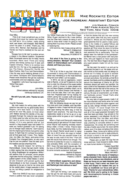 Captain America (1968) Issue #418 #367 - English 24