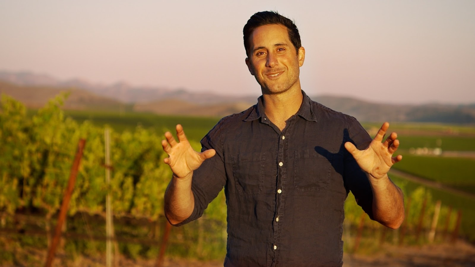 Brian McClintic on location at Bien Nacido Vineyards in the Santa Maria Valley