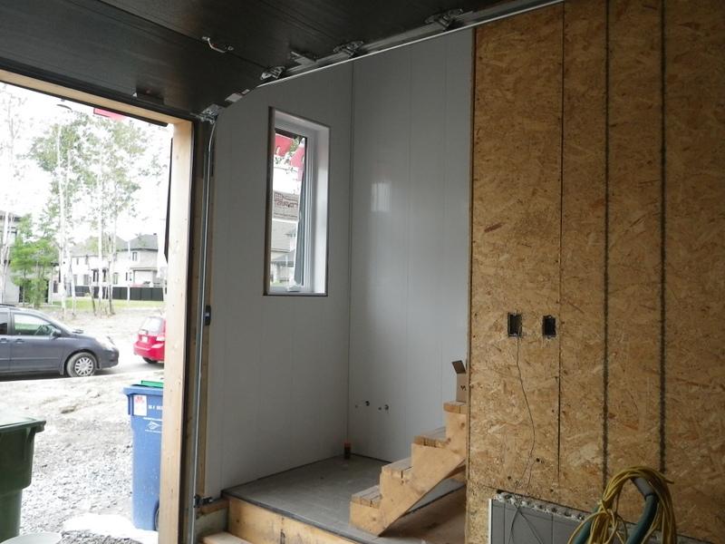 Jour 102 de travail rev tement int rieur du garage chez les fournier - Peinture parpaing exterieur ...
