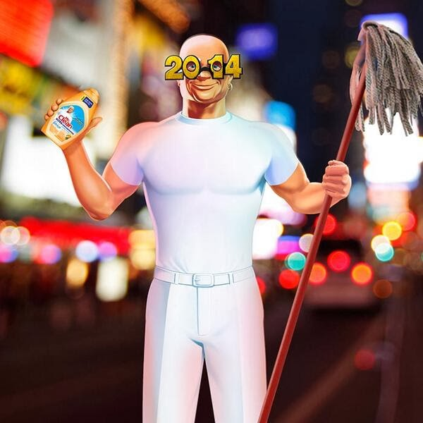 Mr. Clean New Year's Eve