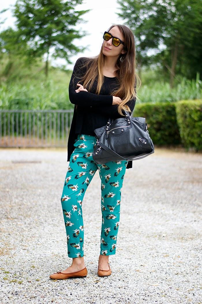 pantalone stampa unicorno
