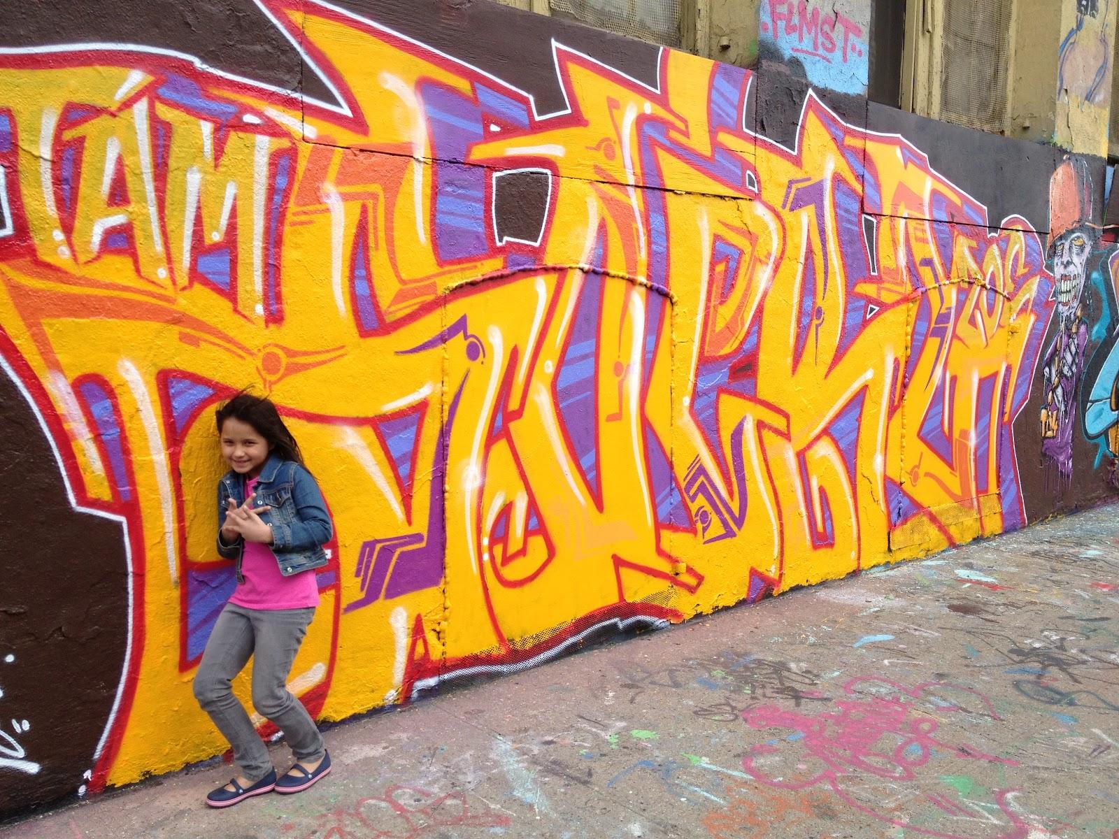 A Harmonious Combination : Graffiti covered warehouse in NYC