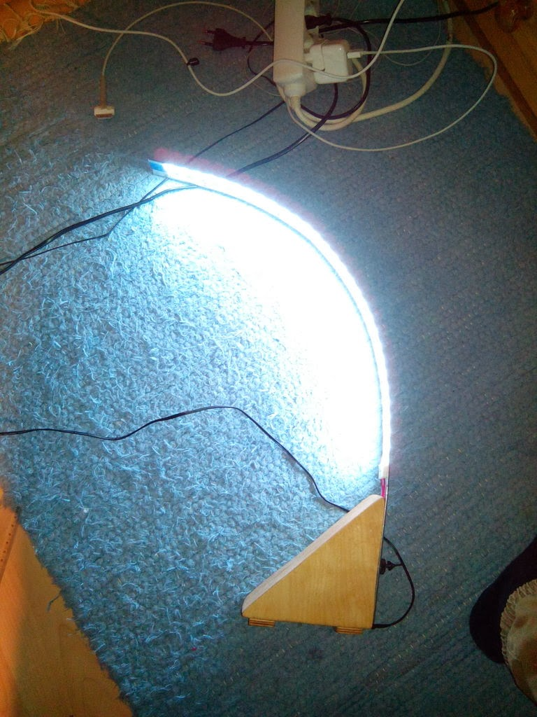 Cara Membuat Lampu Belajar Led Biru-Putih