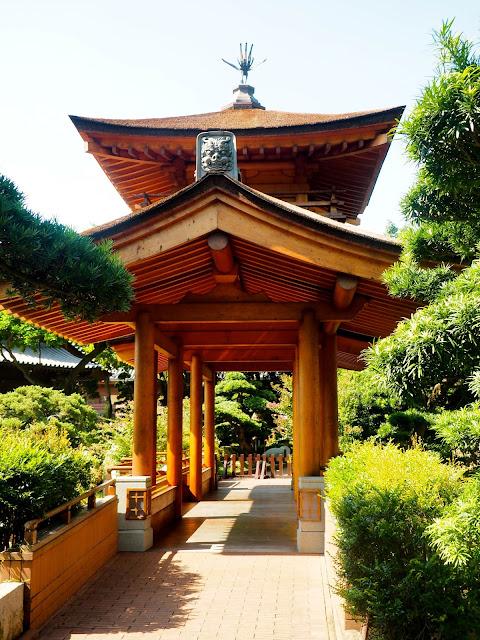 Traditional Chinese pavilion structure in Nan Lian Gardens, Kowloon, Hong Kong