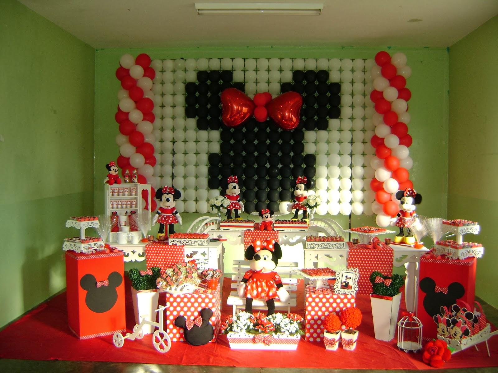 Tema Minnie Vermelha  Decoração Provençal  Nanda Decorações