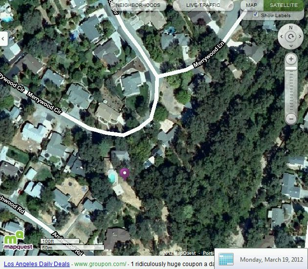 Close up satellite images of my house