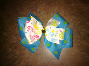 Blue/Green bow