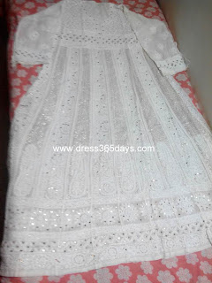 Pure Georgette Chikankari Anarkali for wedding
