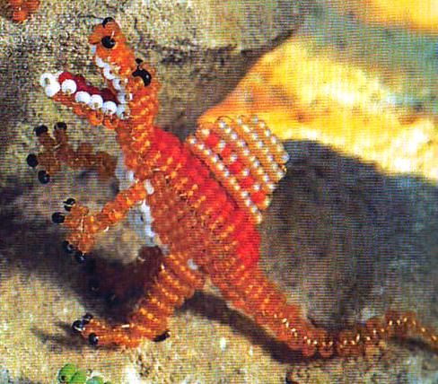 Динозавр из бисера - спинозавр