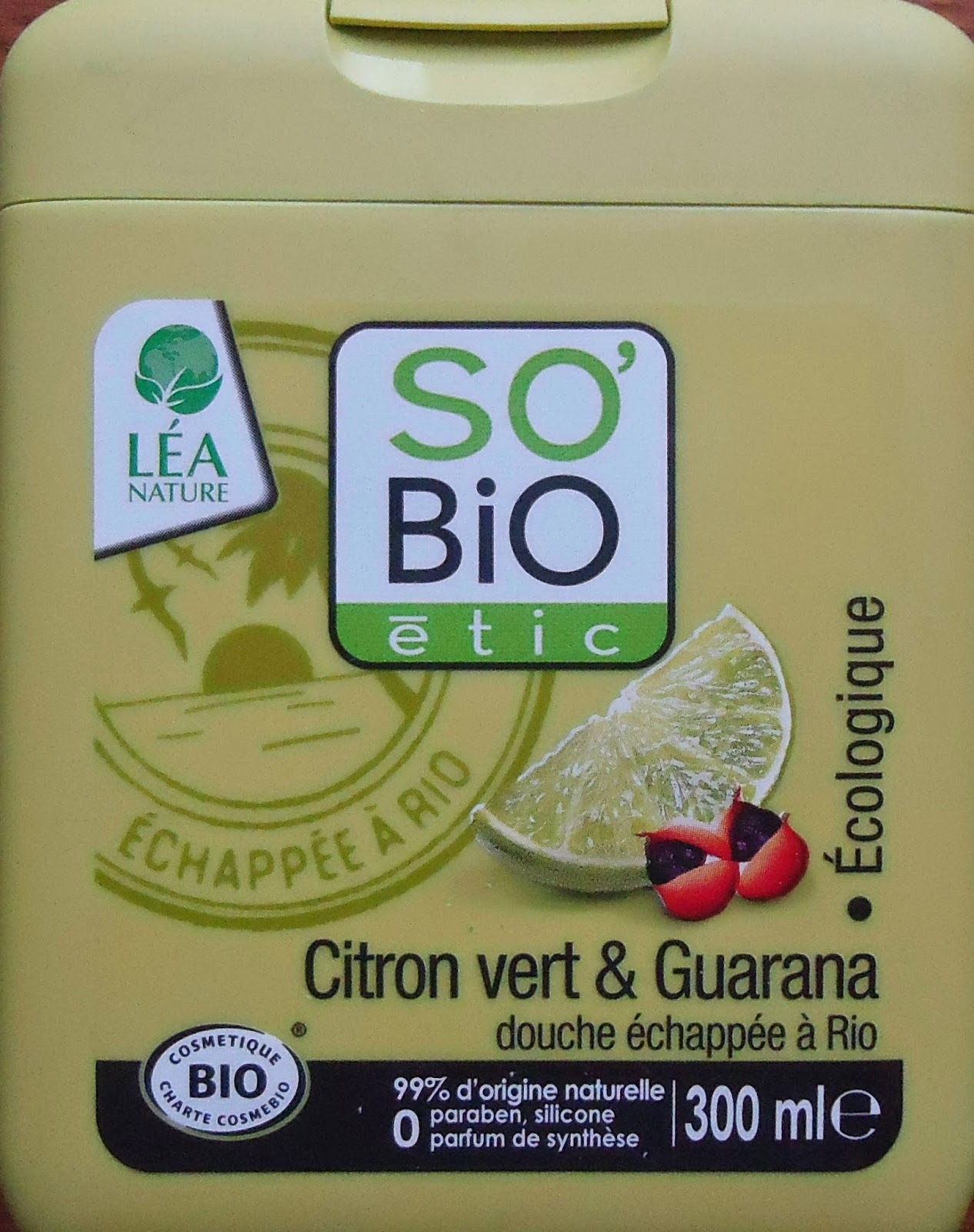 gel douche citron vert et guarana so bio étic