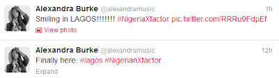 United Kingdom singer Alexandra Burke in Lagos for Glo X-Factor