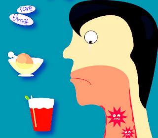 A sore throat cartoon