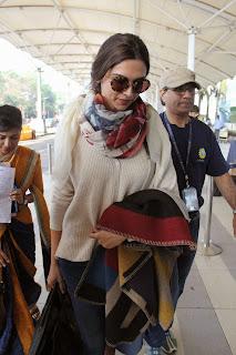 Deepika Padukone Spotted at Mumbai Domestic Airport