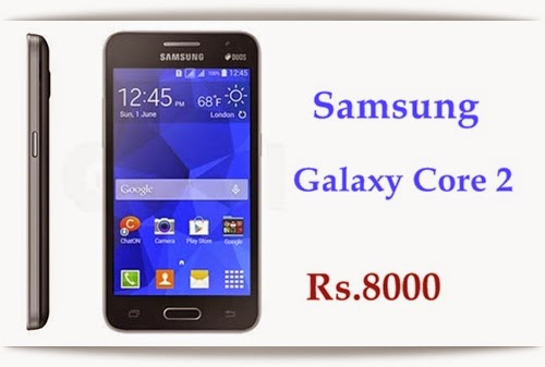 Buy Samsung Galaxy Core 2 online at cheapest Price of Rs.8000