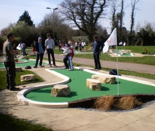 Mini Golf course at Basingstoke Golf Centre in Hampshire