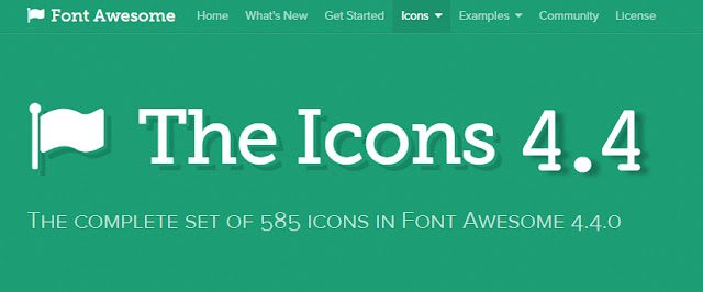 Update Font Awesome Versi 4.4 Terbaru 2015