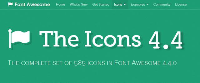 Update Font Awesome Versi 4.4 Terbaru 2015