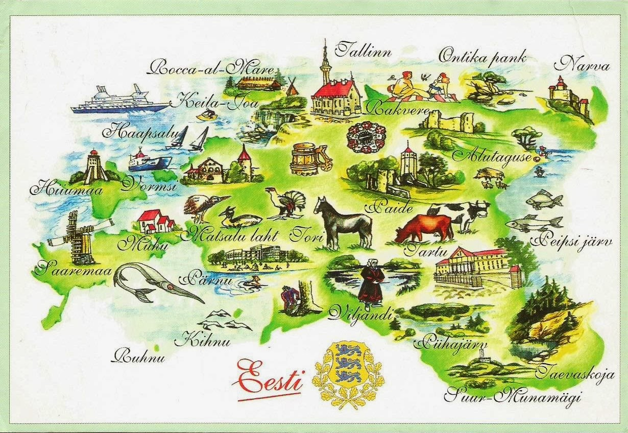 estonia travel map image collections