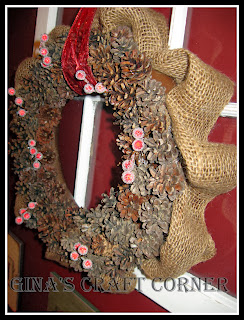 DIY Pinecone Wreath-Gina's Craft Corner