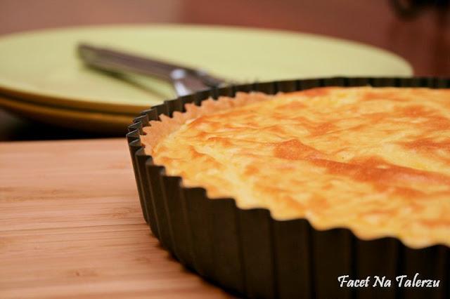 Tarta porowo-ziemniaczana z serową niespodzianką