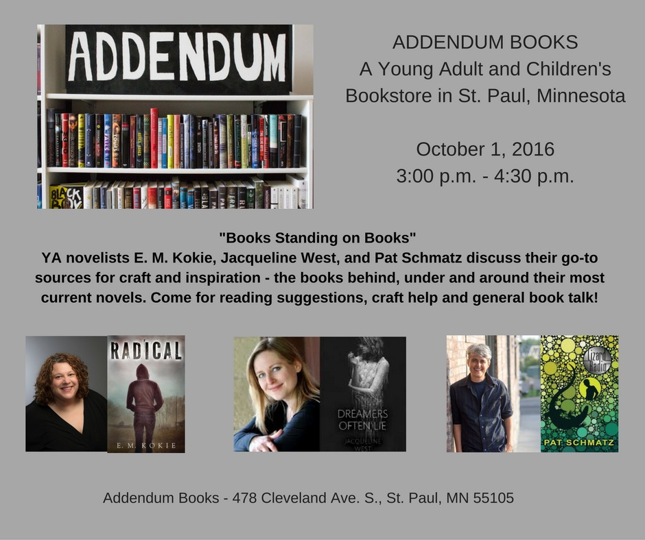 Books Standing on Books Panel 10/1/16 3-4:30pm