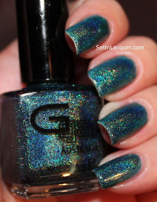 Glitter Gal Teal Blue holographic nail polish