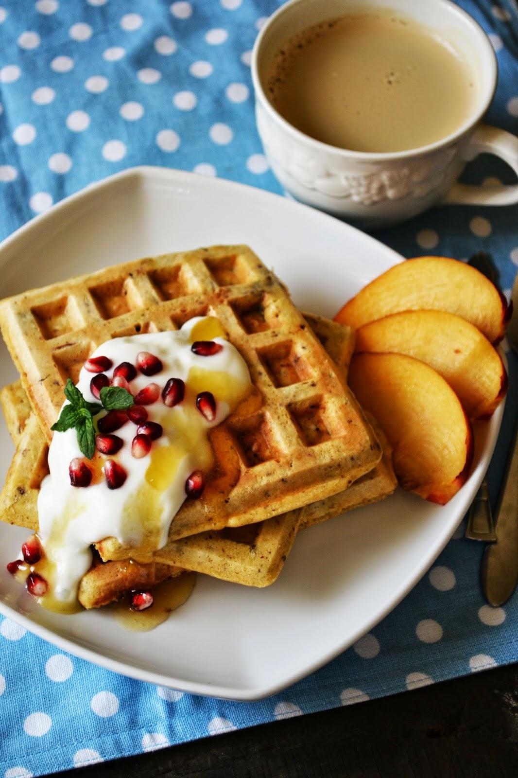 Waffles cu faina de ovaz si ciocolata