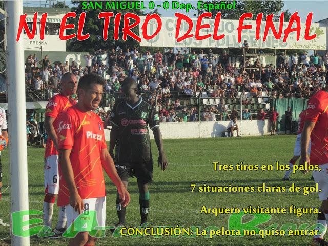 23º FECHA / 0 - 0 vs Español (L)