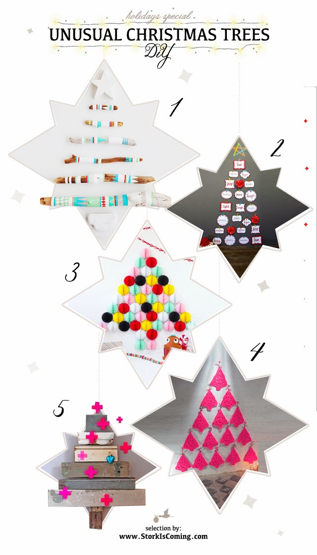 the stork is coming diy christmas trees ideas   holidays special