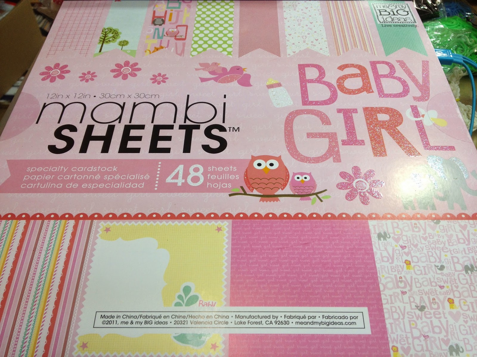 Scrapbook Memories Me My Big Ideas 12x12 Mambi Sheets Paper Pad