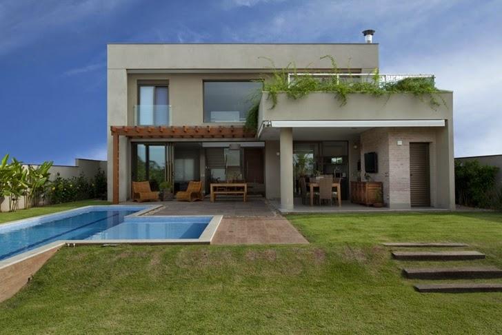 Casa brasileira com arquitetura e decora o moderna for Casas modernas brasil