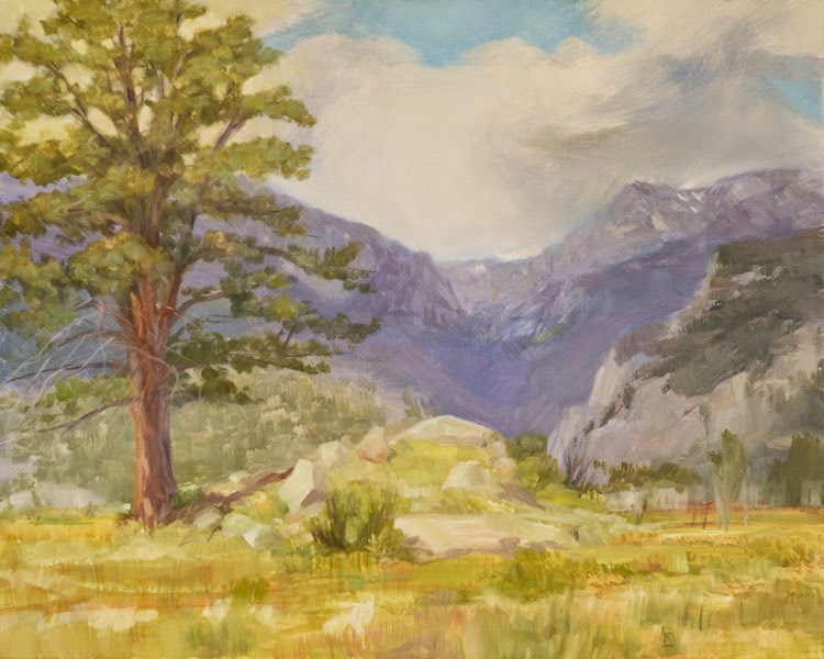 Moraine Park Morning painting by Richard Lance Russell