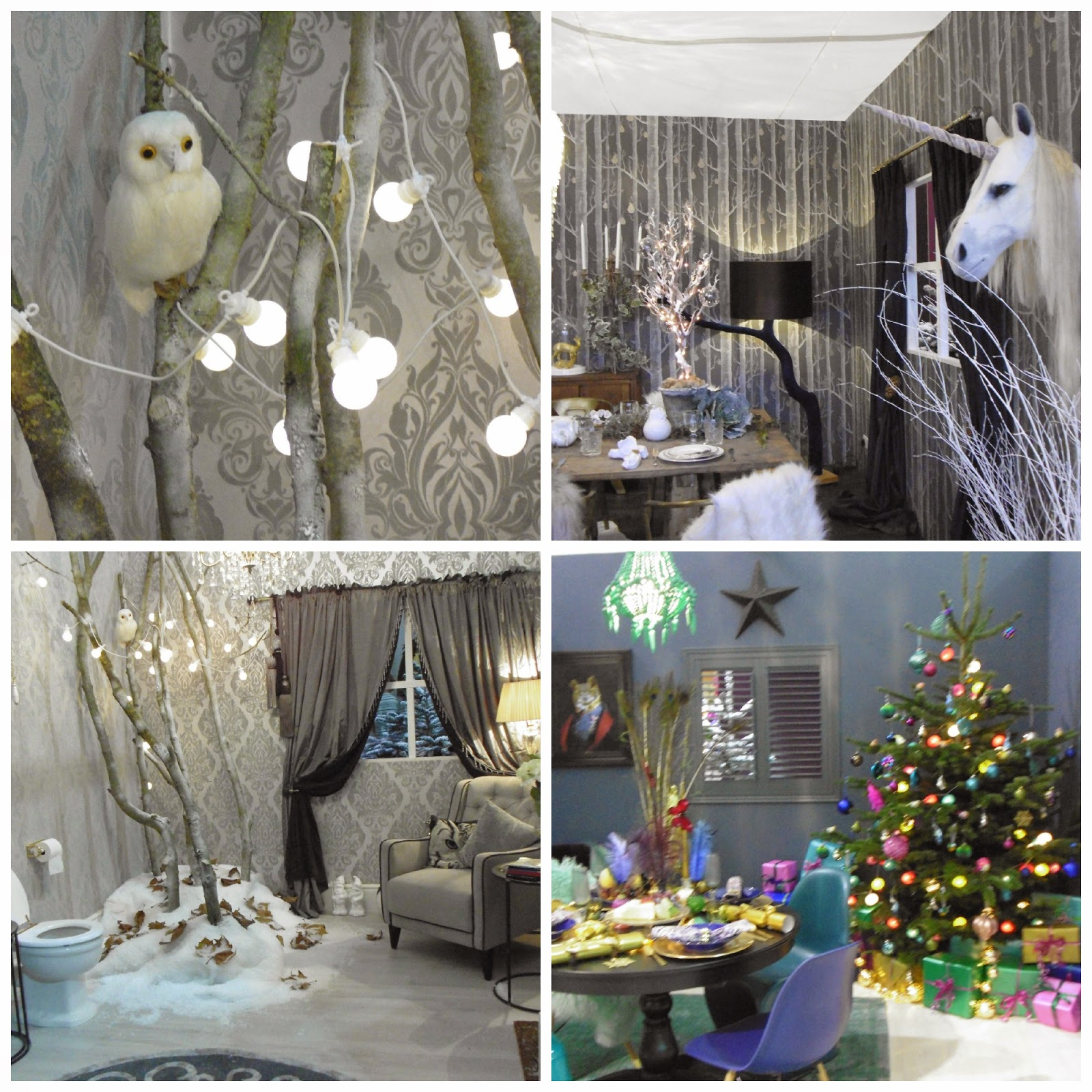 interiors at Ideal Home Show Christmas