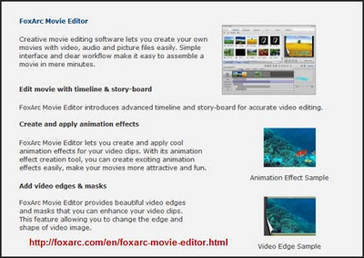 FoxArc Moving Editing Software