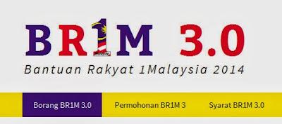 BR1M 3.0 2014 - Borang Permohonan & Syarat-Syarat