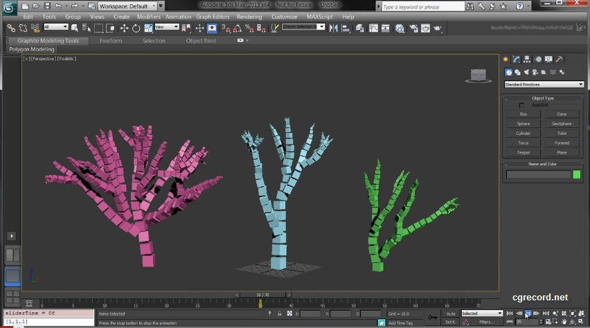 MaxScript tutorial: Creating a Voxel Tree