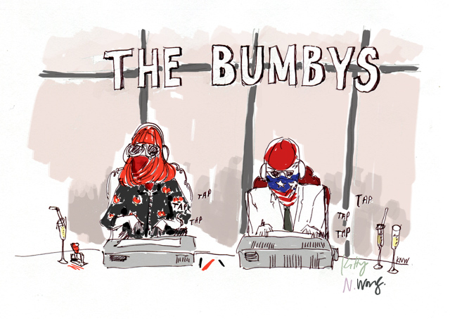 Kitty N. Wong / The Bumbys typewriter sketch
