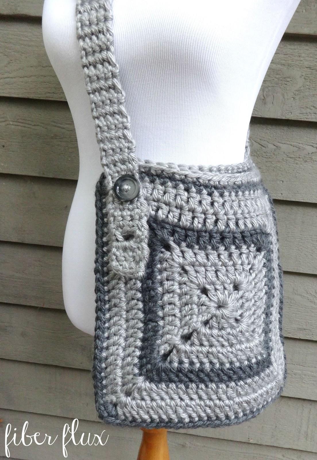 Easy Crochet Crossbody Bag Pattern : Free Crochet Pattern...Cozy Messenger Bag! Fiber Flux ...