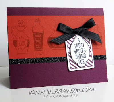 Stampin' Up! Sweet Hauntings Halloween Card #stampinup www.juliedavison.com