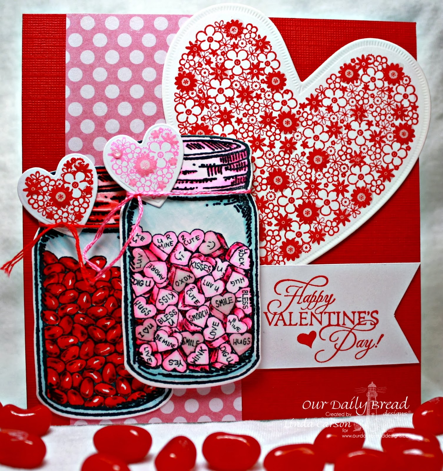 ODBD, Canning Jars, Canning Jar Fillers, Clean Heart, Bless Your Heart, Clean Heart, Canning Jars die, Ornate Hearts die, designer Linda Carson