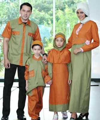 Model Baju Muslim Pasangan Keluarga Terbaru untuk lebaran