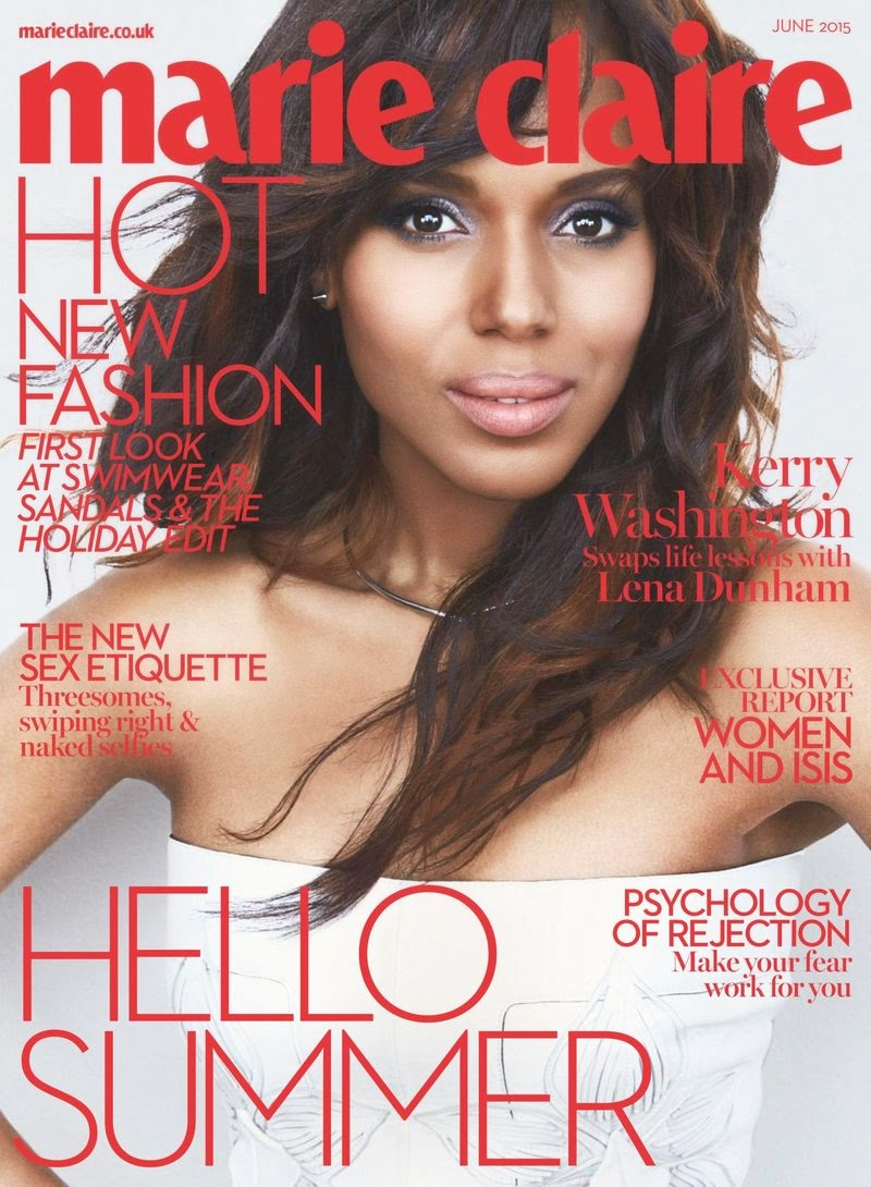 Actress @ Kerry Washington - Marie Claire UK, June 2015