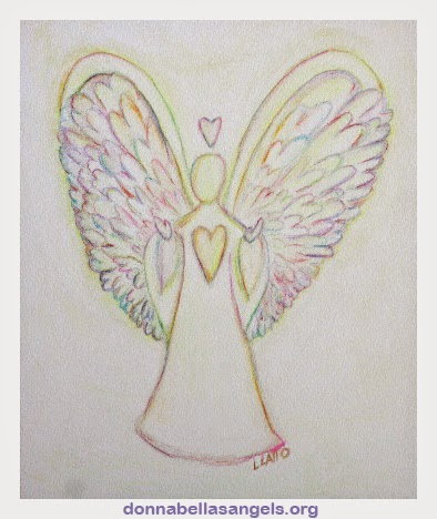 Rainbow Hearts Angel Painting